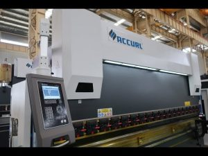 Màquina de fre de premsa CNC de 4 eixos Corona motoritzada CNC de 175 tones x 4000 mm