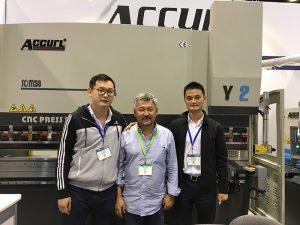 Accurl va participar a la màquina-eina de Chicago i l'Exposició d'Automatització Industrial el 2016