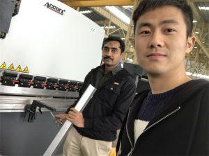 Algèria Client Testing Press Brake Machine a la nostra fàbrica