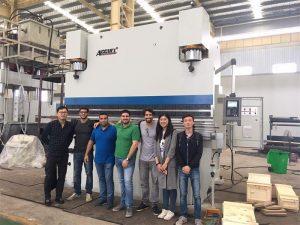 Els clients de Brasil visiten fàbriques i compren màquines de fre de premsa