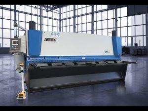 Màquina talladora de guillotina hidràulica MS8 8x4000mm amb pantalla tàctil ELGO P40T CNC