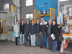 La Delegació del Perú va venir a visitar les nostres fàbriques i comprar màquines